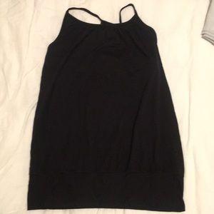 Black  lululemon open-side tank with bra